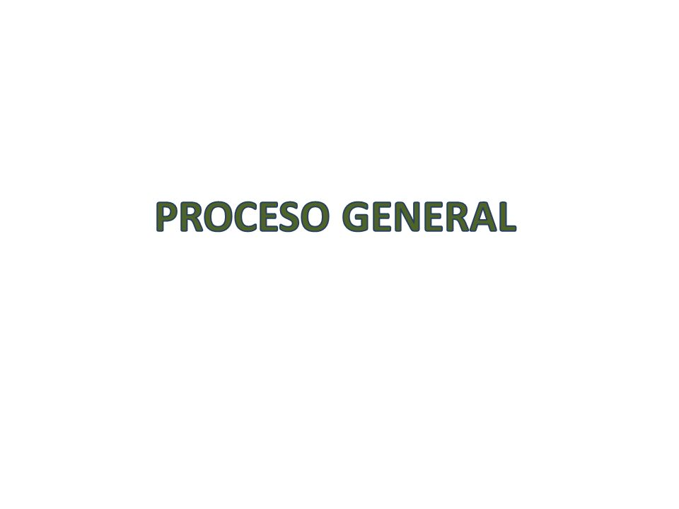 Proceso GENERAL