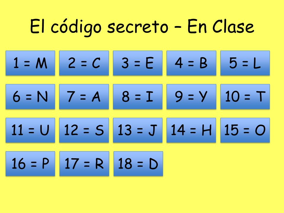El código secreto – En Clase