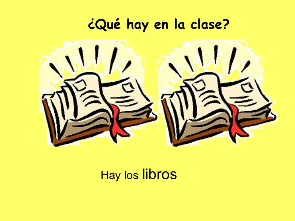 ¿Qué hay en la clase Hay los libros