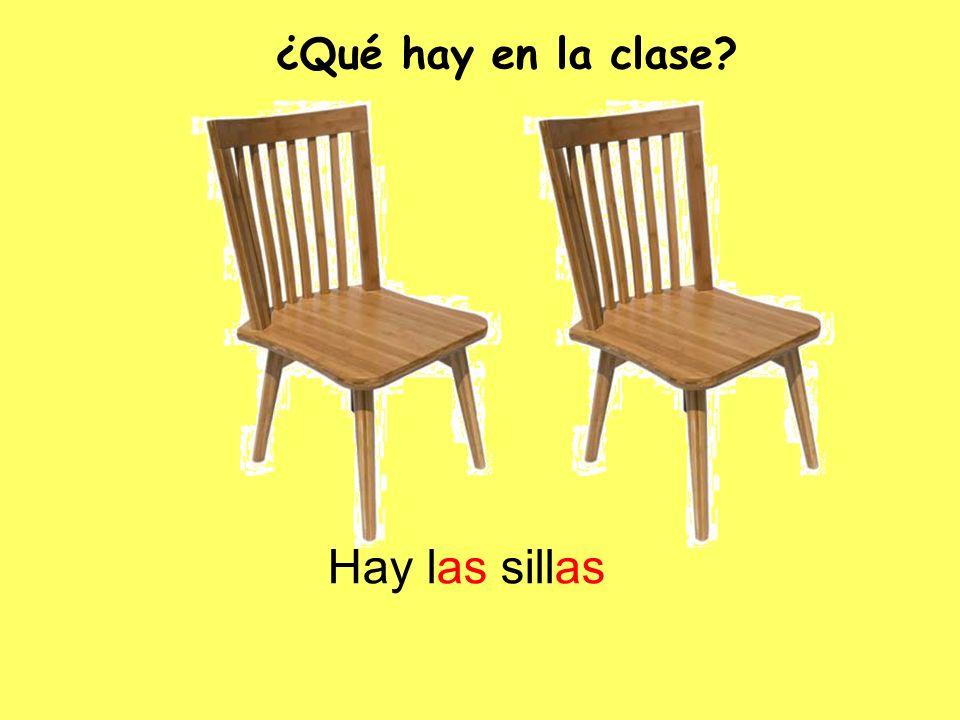 ¿Qué hay en la clase Hay las sillas