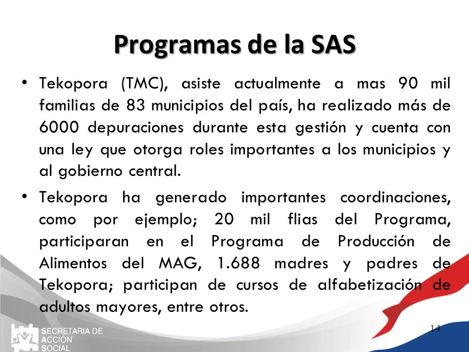 Programas de la SAS