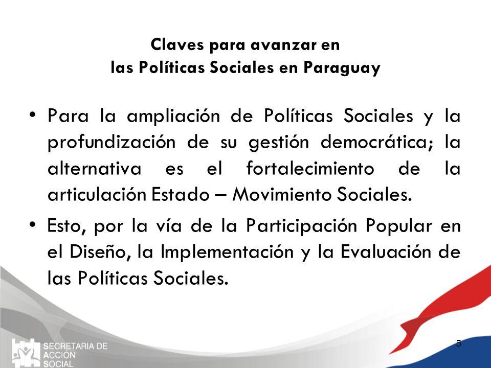 Claves para avanzar en las Políticas Sociales en Paraguay