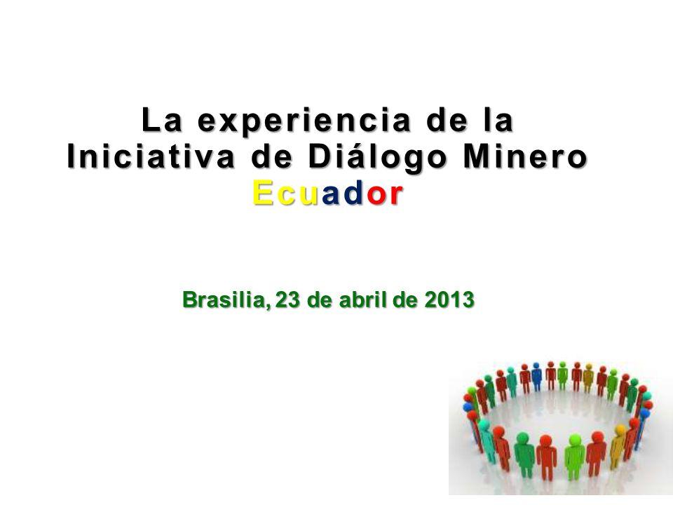 La experiencia de la Iniciativa de Diálogo Minero Ecuador