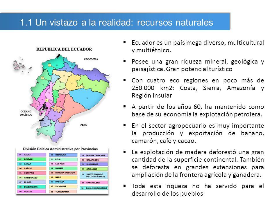 1.1 Un vistazo a la realidad: recursos naturales