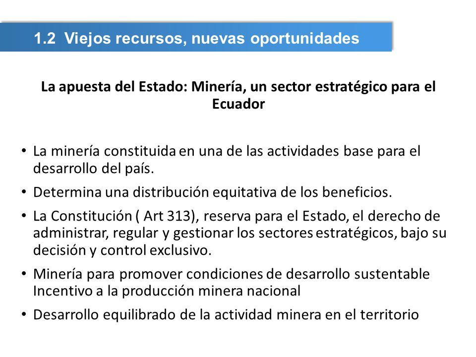 La apuesta del Estado: Minería, un sector estratégico para el Ecuador