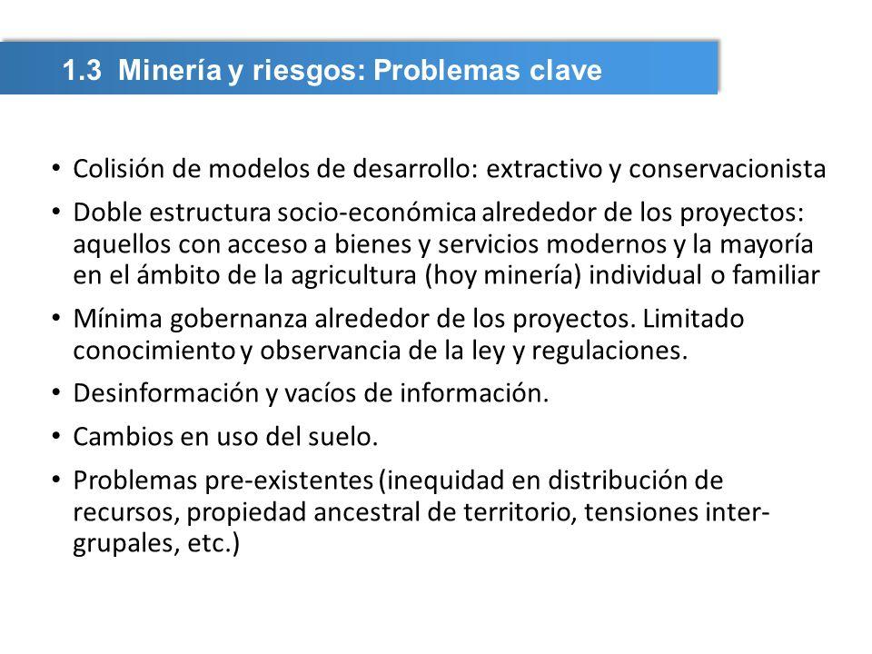 1.3 Minería y riesgos: Problemas clave