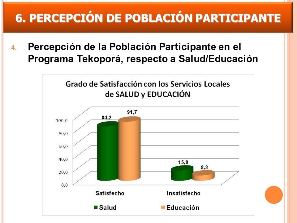 6. PERCEPCIÓN DE POBLACIÓN PARTICIPANTE