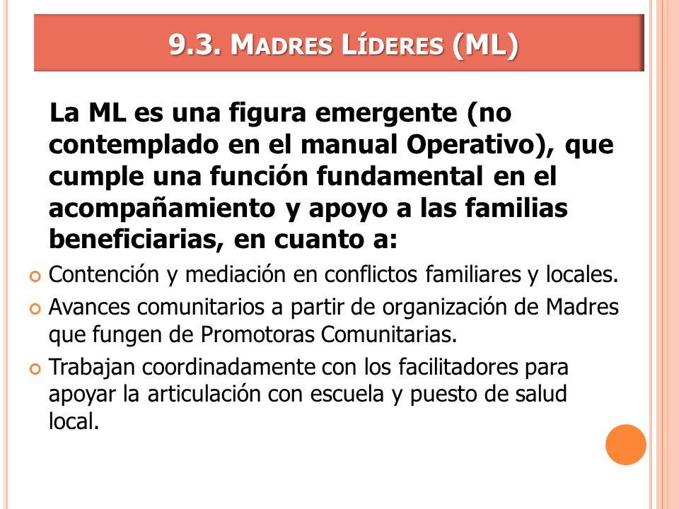 9.3. Madres Líderes (ML)