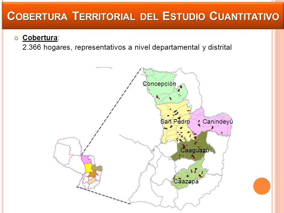 Cobertura Territorial del Estudio Cuantitativo