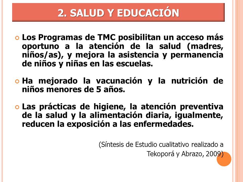 2. SALUD Y EDUCACIÓN