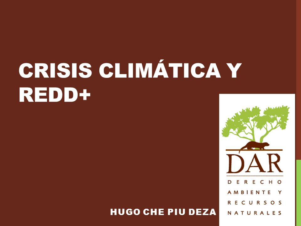 CRISIS CLIMÁTICA Y redd+