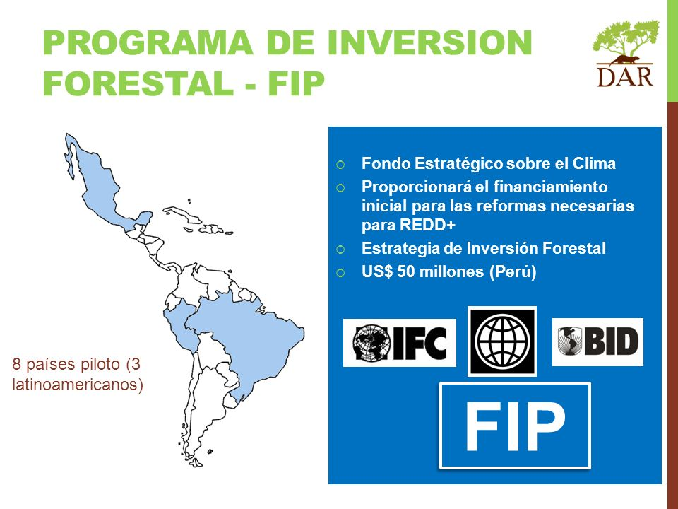 FIP Programa de inversion forestal - fip