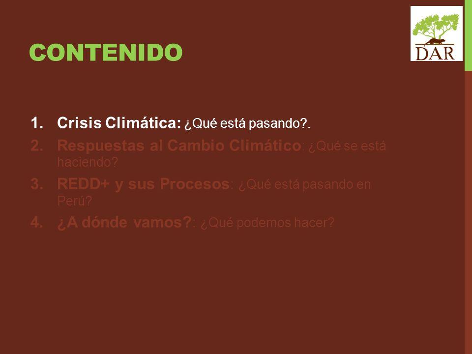 Contenido Crisis Climática: ¿Qué está pasando .