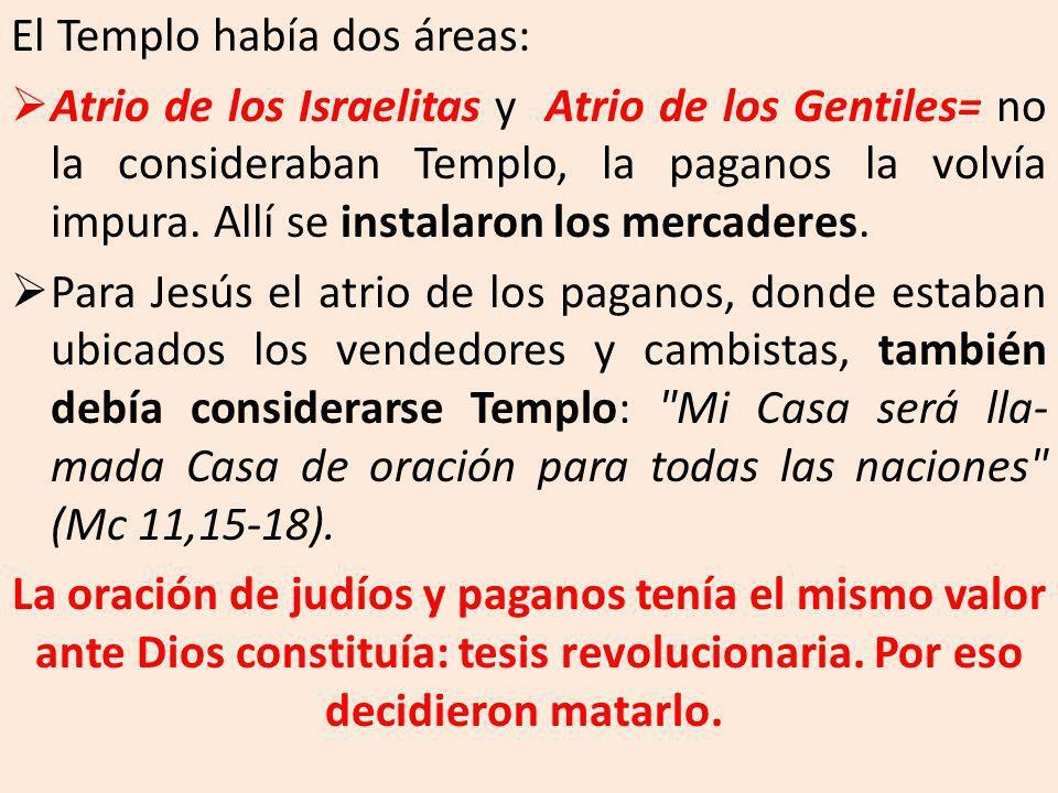 El Templo había dos áreas: