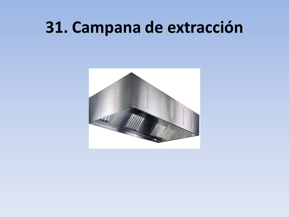 31. Campana de extracción