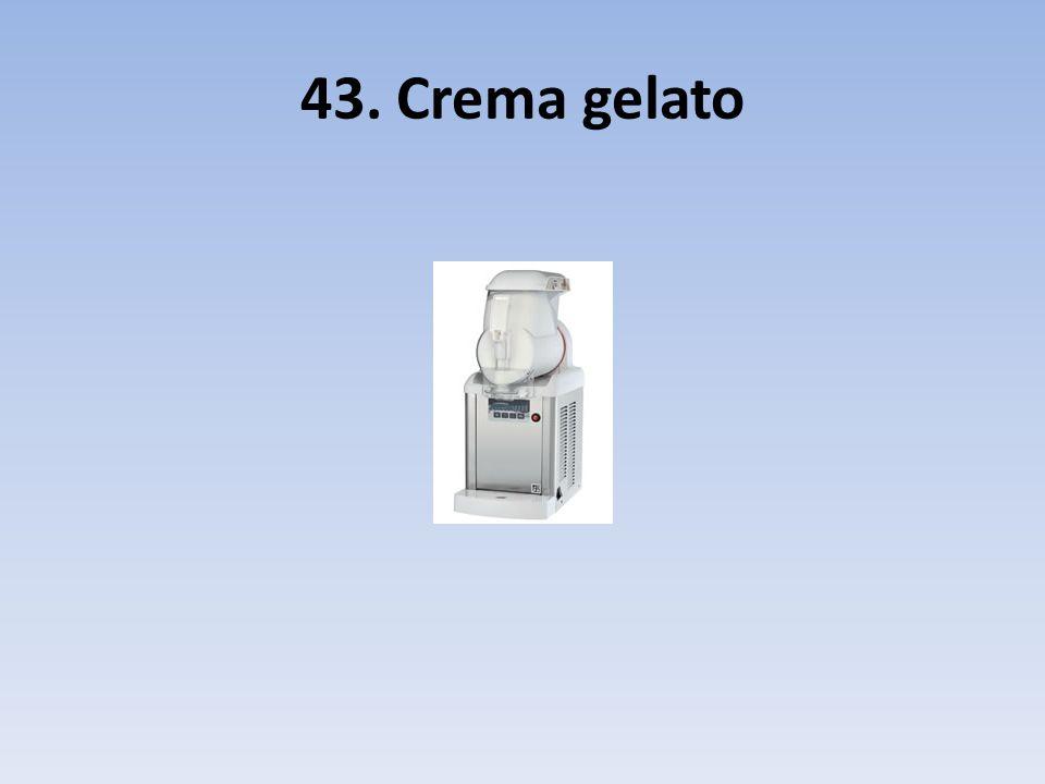 43. Crema gelato