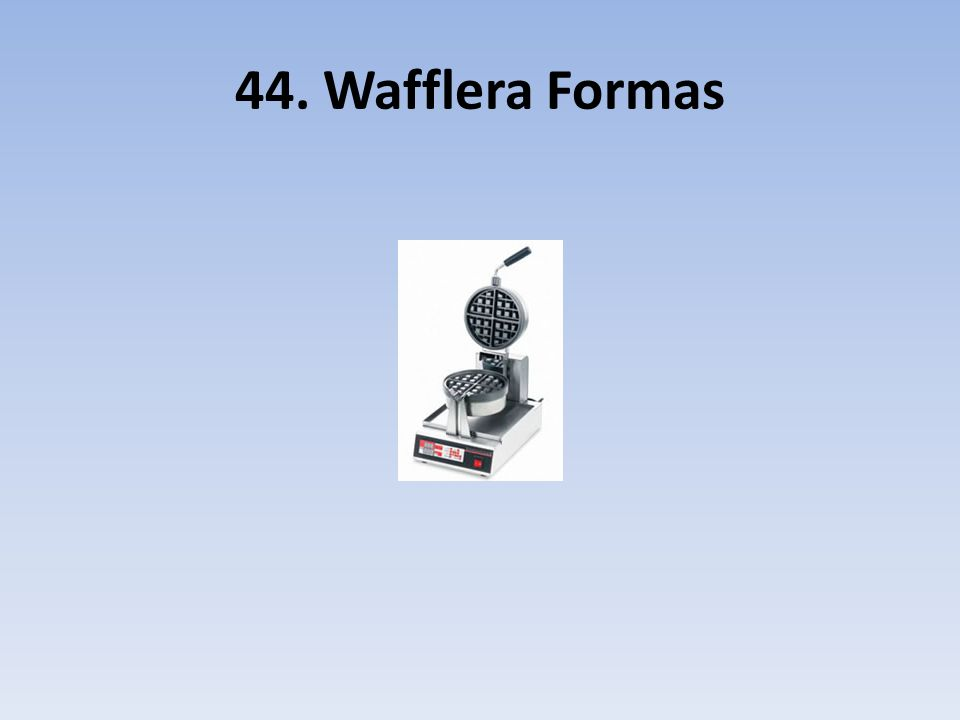 44. Wafflera Formas