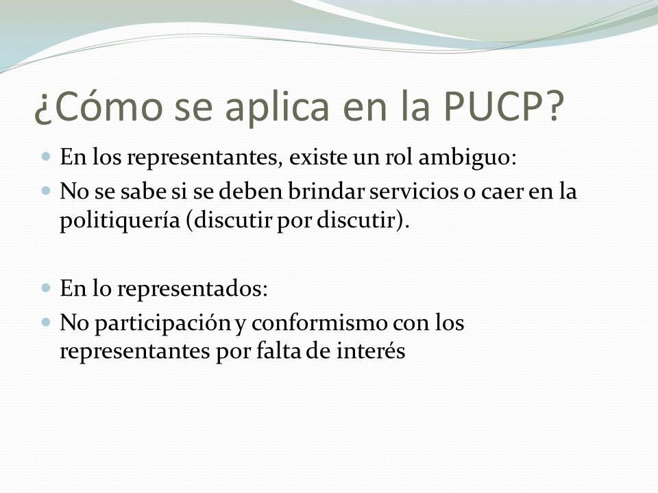 ¿Cómo se aplica en la PUCP