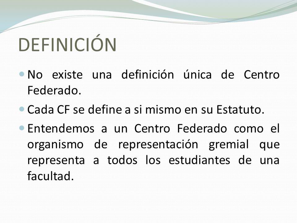 DEFINICIÓN No existe una definición única de Centro Federado.