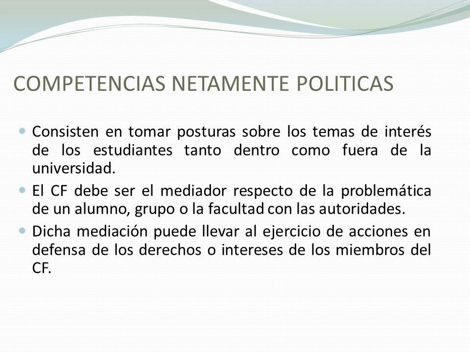 COMPETENCIAS NETAMENTE POLITICAS
