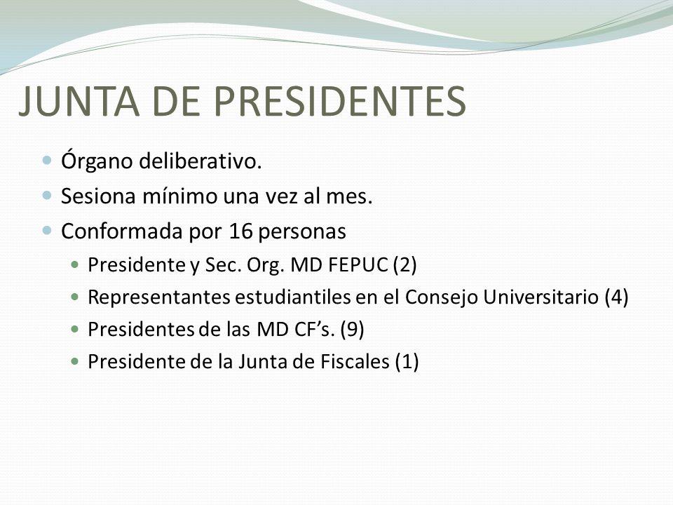JUNTA DE PRESIDENTES Órgano deliberativo.