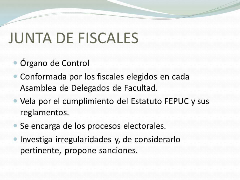 JUNTA DE FISCALES Órgano de Control