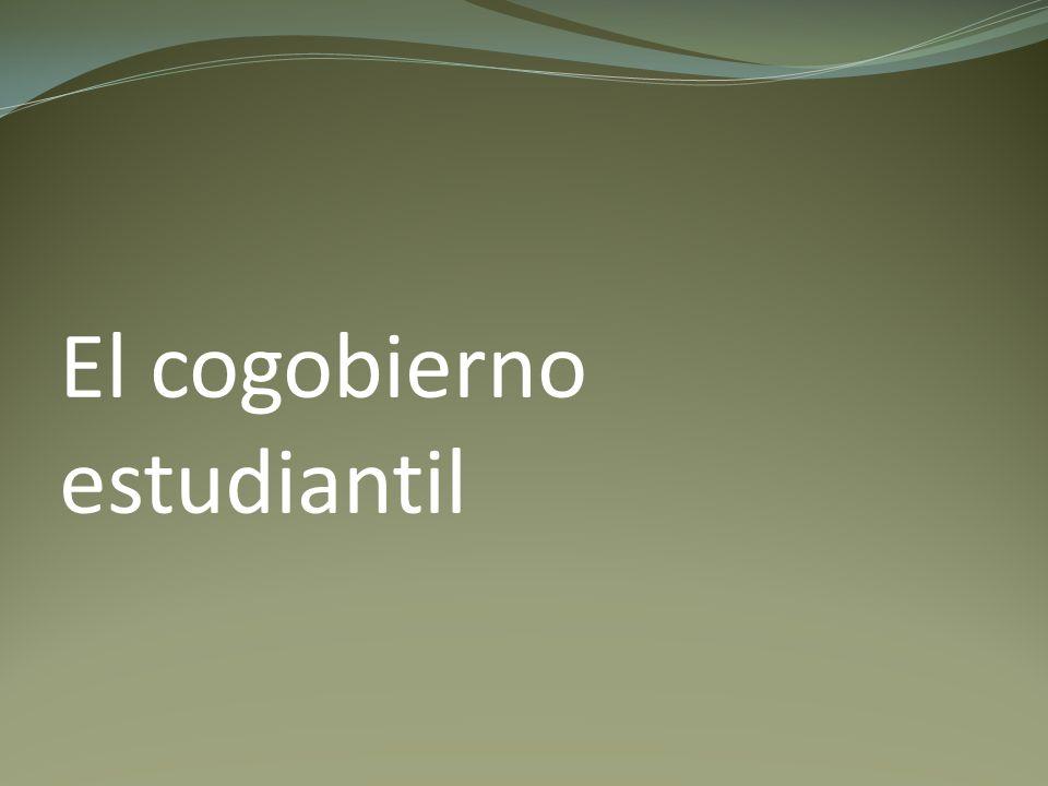 El cogobierno estudiantil