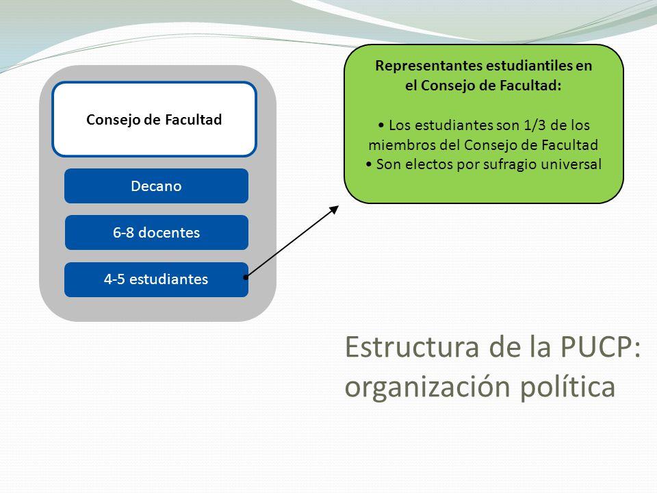 Estructura de la PUCP: organización política