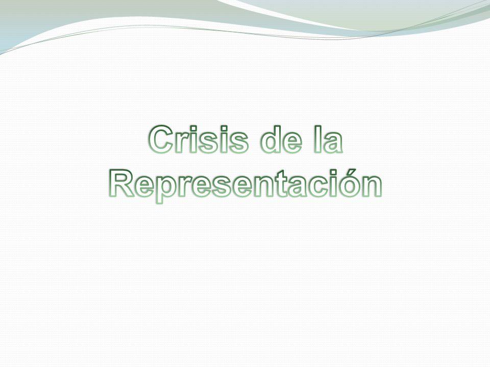 Crisis de la Representación