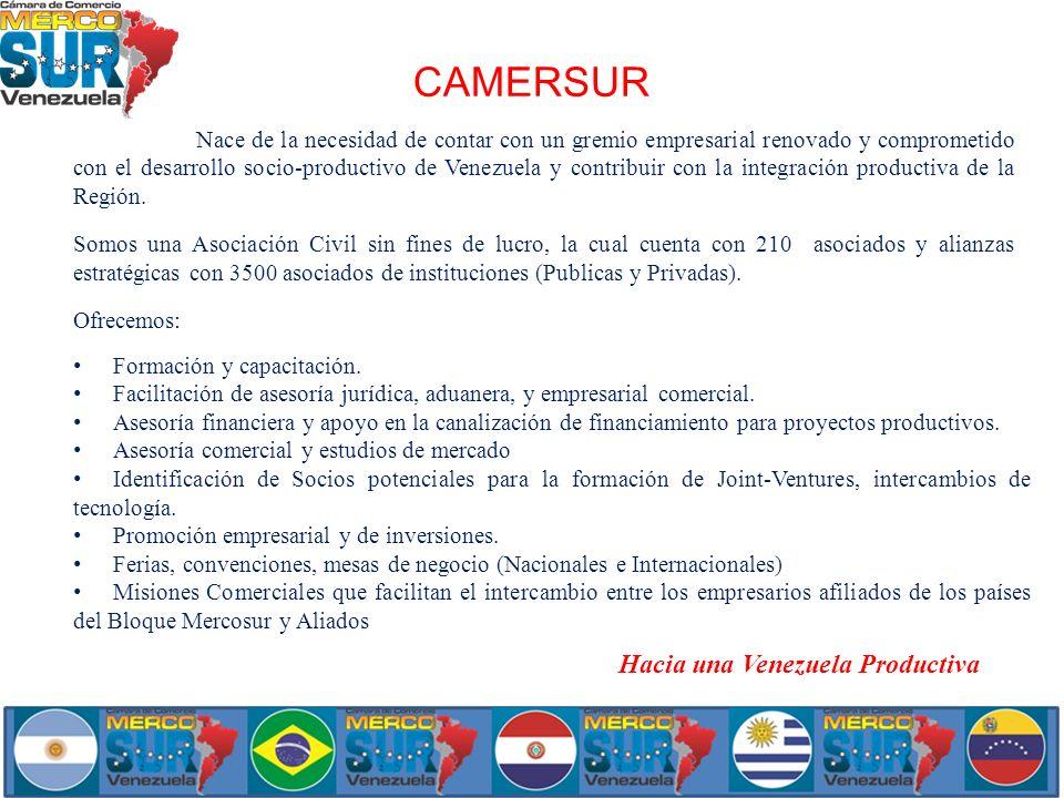 CAMERSUR Hacia una Venezuela Productiva
