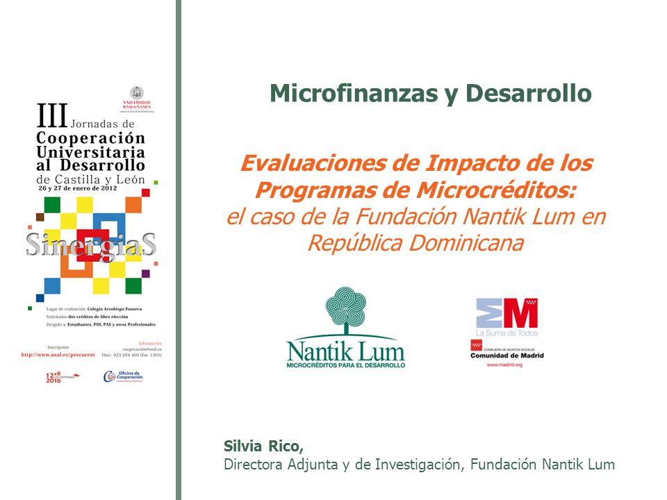 Microfinanzas y Desarrollo