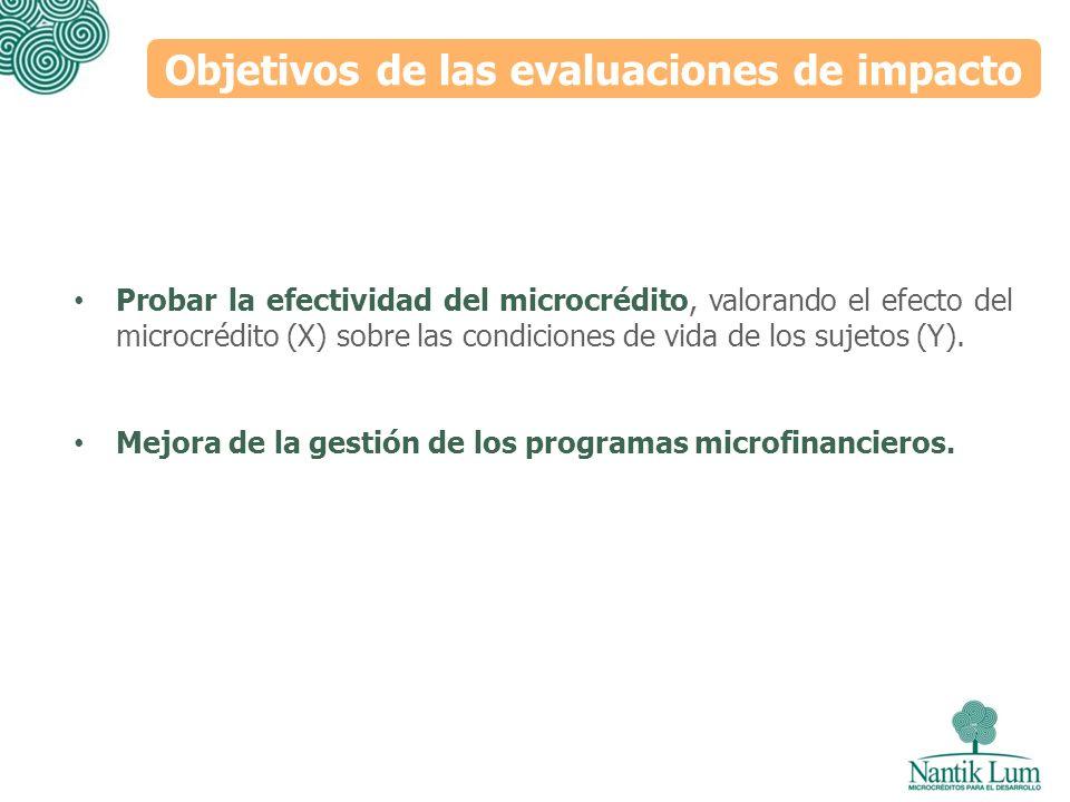 Objetivos de las evaluaciones de impacto