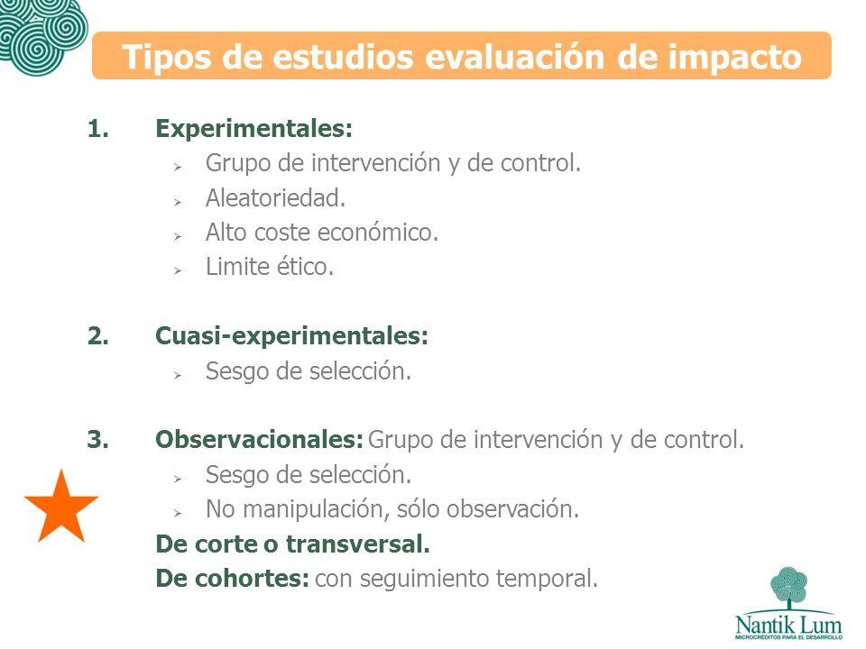 Tipos de estudios evaluación de impacto