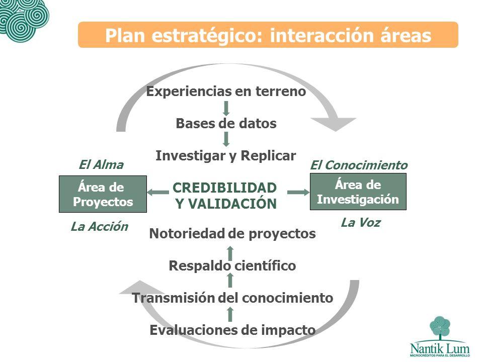 Plan estratégico: interacción áreas