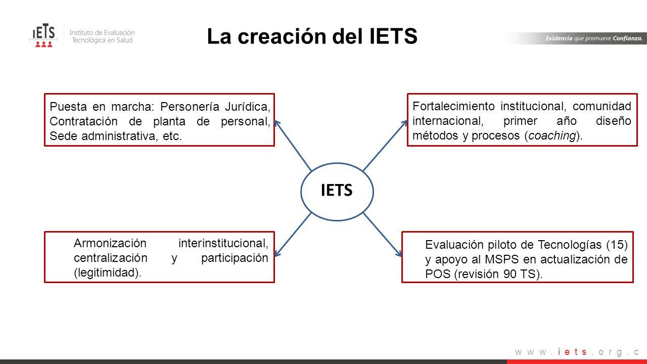 Plan de acción 2012- 2013 La creación del IETS IETS