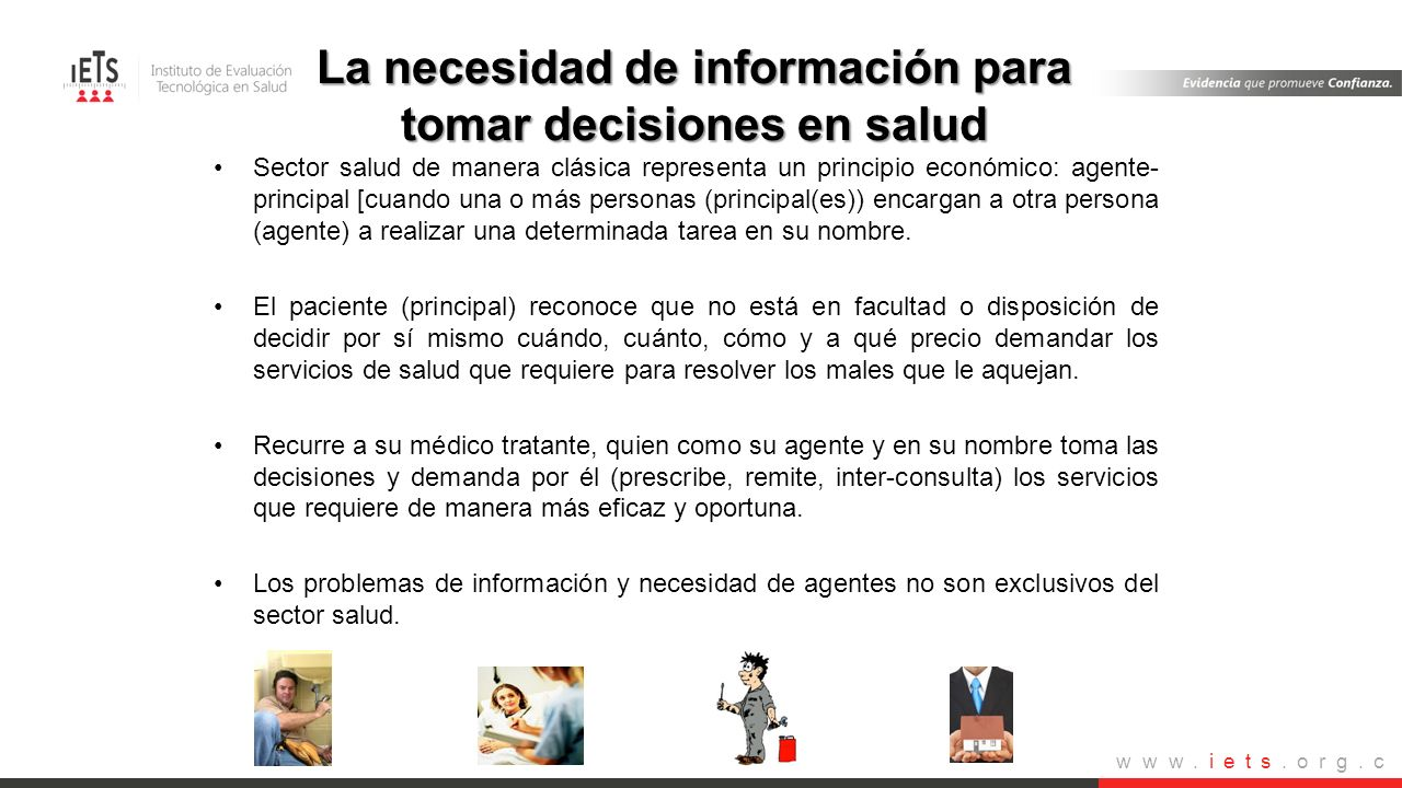 La necesidad de información para tomar decisiones en salud