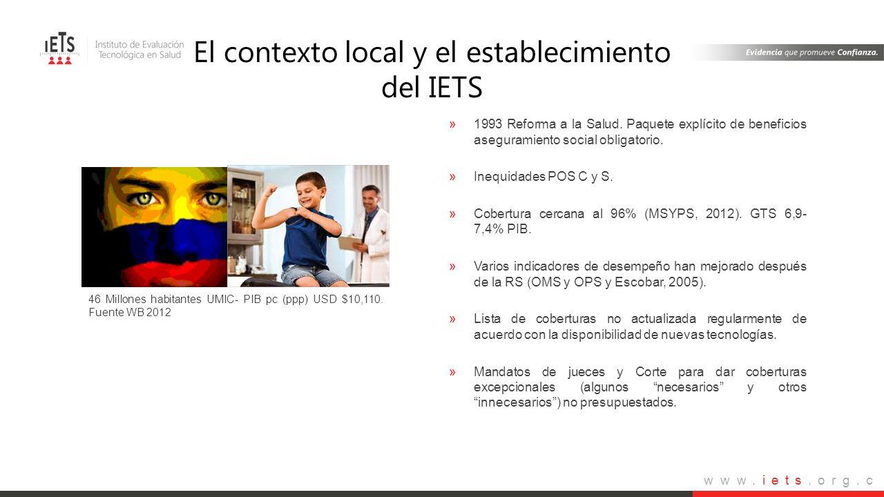 El contexto local y el establecimiento del IETS
