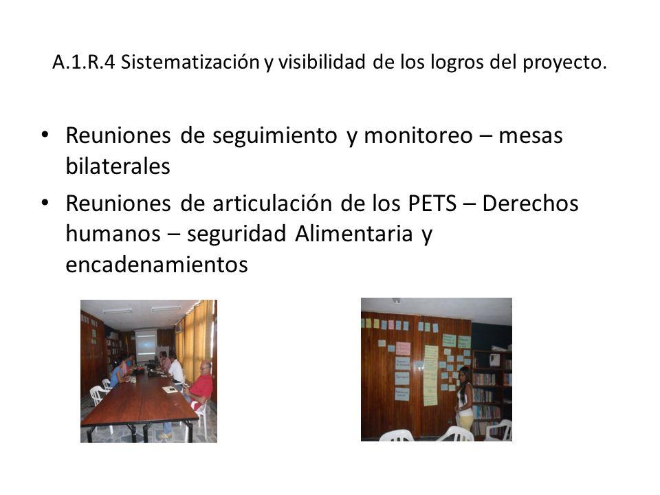 A.1.R.4 Sistematización y visibilidad de los logros del proyecto.