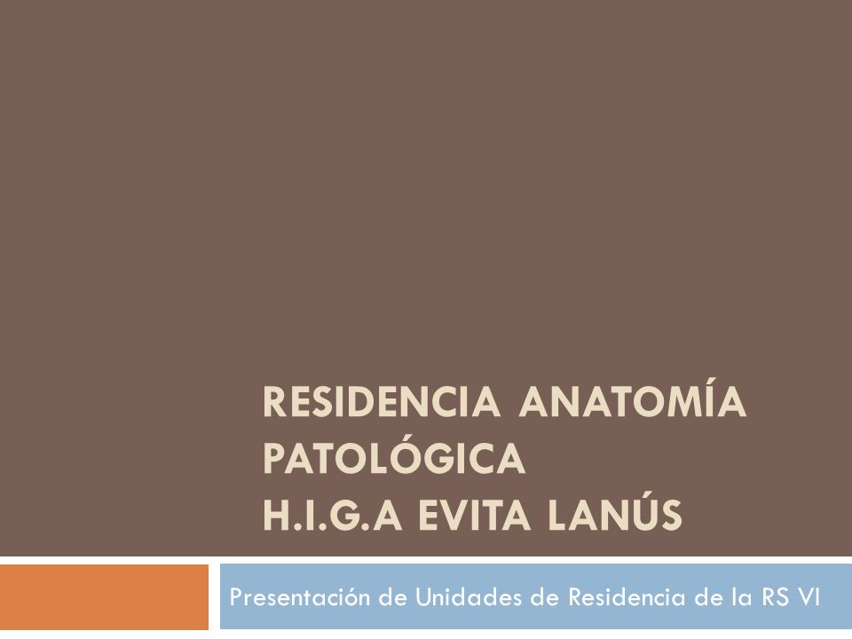 Residencia anatomía patológica h.i.g.a evita lanús