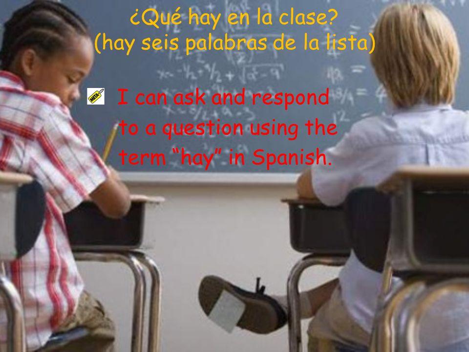 ¿Qué hay en la clase (hay seis palabras de la lista)