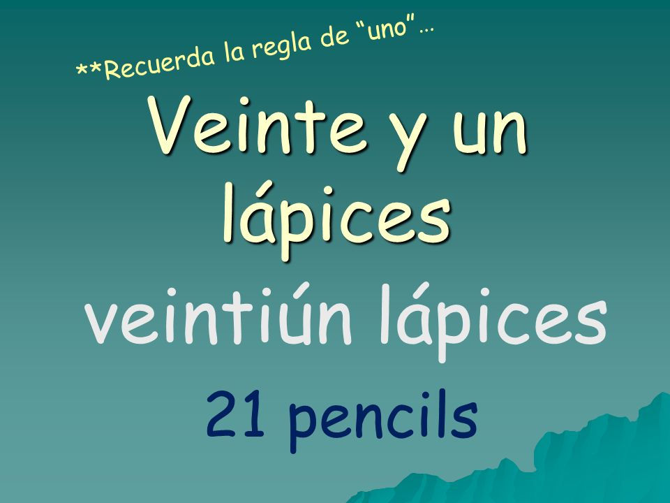 Veinte y un lápices veintiún lápices 21 pencils