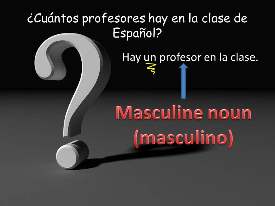 ¿Cuántos profesores hay en la clase de Español