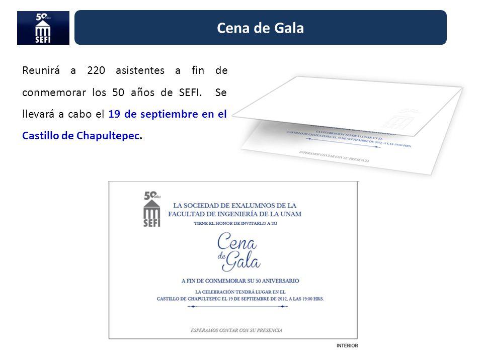 Cena de Gala Reunirá a 220 asistentes a fin de conmemorar los 50 años de SEFI.
