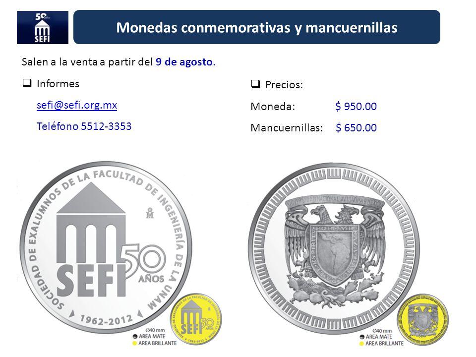 Monedas conmemorativas y mancuernillas