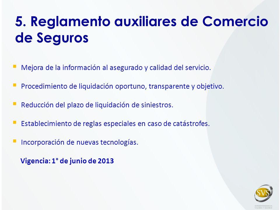 5. Reglamento auxiliares de Comercio de Seguros
