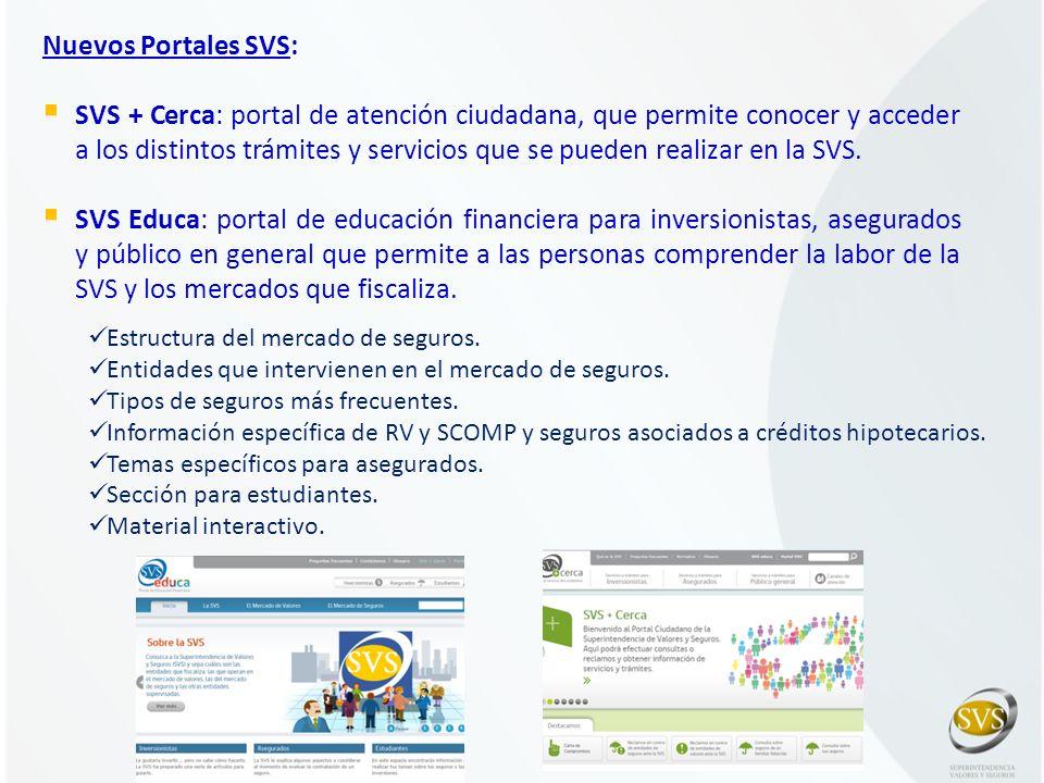 Nuevos Portales SVS: