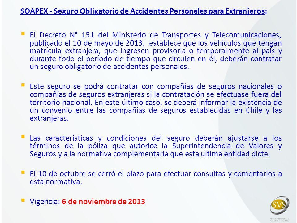 SOAPEX - Seguro Obligatorio de Accidentes Personales para Extranjeros: