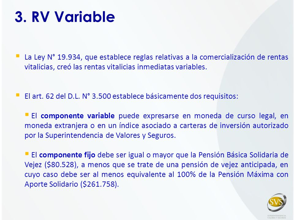 3. RV Variable