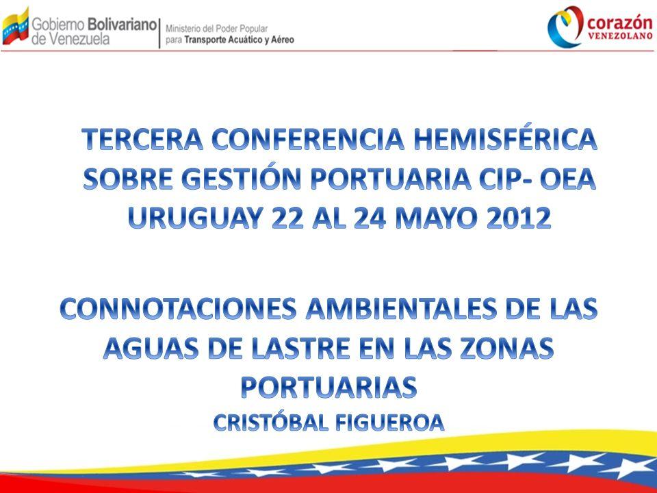 TERCERA CONFERENCIA HEMISFÉRICA SOBRE GESTIÓN PORTUARIA CIP- OEA