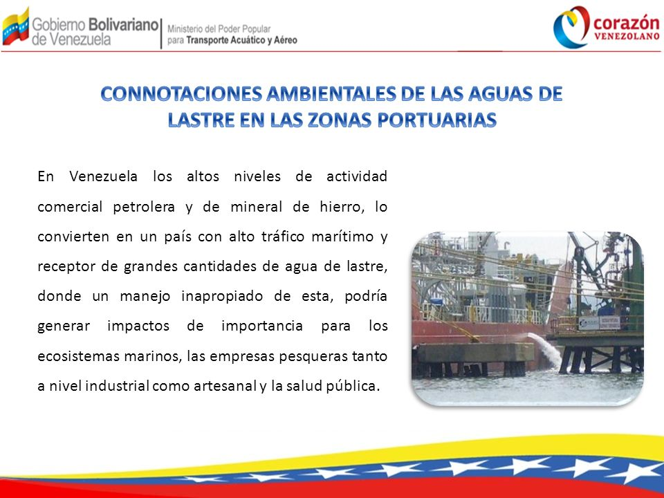 CONNOTACIONES AMBIENTALES DE LAS AGUAS DE LASTRE EN LAS ZONAS PORTUARIAS